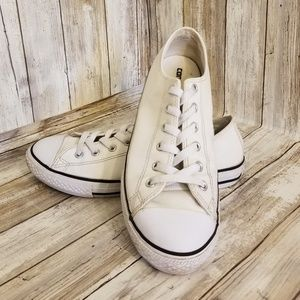 CONVERSE Sneakers JUNIOR SIZE 6  WHITE LEATHER